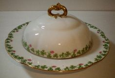 Antique Limoges France D C Bernardaud Butter Dish Cover Strainer Free Shipping | eBay