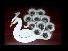 creative rangoli designs using filters || white peacock kolam designs with innovation - YouTube