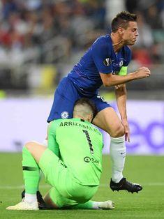 Europa League, Chelsea Fc, Arsenal, Football, Running, Sports, Men, Image, Blue