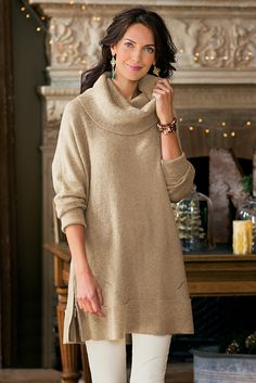 Side Zip Sweater - You'll be in love with the hint of cashmere | Soft Surroundings
