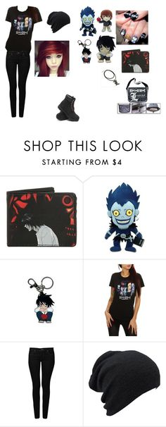 """""""I am a huge Death Note fan soo xD"""" by symphoney ❤ liked on Polyvore featuring GE, Mavi and Timberland"""