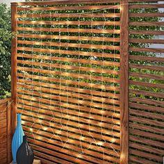 Hillis Curtain 6 ft. Fairy String Lights Backyard Privacy, Backyard Fences, String Lights Outdoor, Hanging Lights, Small Balcony Decor, Privacy Walls, Patio Wall, Backyard Lighting, Outdoor Living Areas