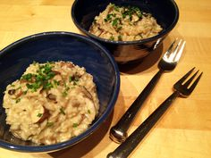 Vegan Gourmet Mushroom Risotto | Vegangela