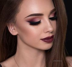 Burgundy smoked look!