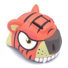 CRAZY STUFF Tygrys to kask rowerowy łączący bezpieczeństwo i niesamowitym wygląd. Kask rowerowy Tygrys odpowiednio zabezpieczy głowę naszego dziecka