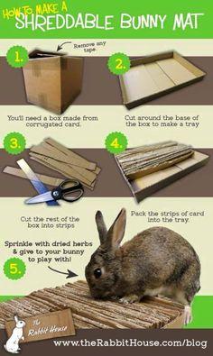Shreddable rabbit mat