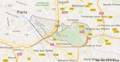 75012 Paris: carte