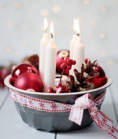 Last Minute Idea: Advent Wreath . - Last Minute Idea: Advent Wreath More - Noel Christmas, Christmas Is Coming, Winter Christmas, Christmas Wreaths, Christmas Crafts, Advent Wreaths, Christmas Ornament, Christmas Ideas, Advent Candles