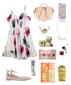 """Dating Day"" by elio-t on Polyvore featuring Gianvito Rossi, Marc Jacobs, Sydney Evan, Benefit, peripera, Laneige, Maybelline, Elizabeth Arden, no!no! and Organix"