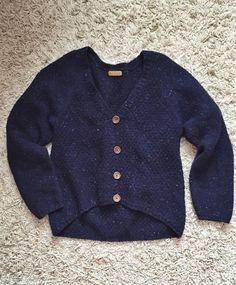 Handknitted tweed cardigan