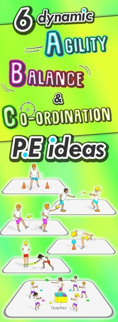 6 free PE dynamic activities for agility, balance, and co-ordination, great ideas for grade spor Physical Education Lesson Plans, Pe Lesson Plans, Elementary Physical Education, Health And Physical Education, Waldorf Education, Science Education, Music Education, Pe Activities, Movement Activities