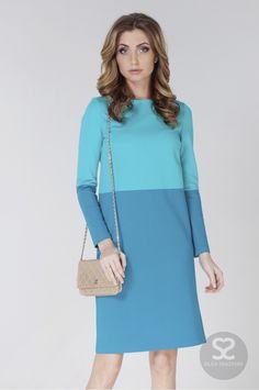 Прямое трикотажное платье с длинным рукавом | Skazkina