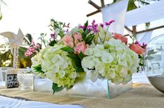 Beach Wedding Centerpices by MY Group Eventos