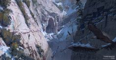 Voice of God - Rise of the Tomb Raider Concept Art, Yohann Schepacz OXAN STUDIO on ArtStation at https://www.artstation.com/artwork/46ab2