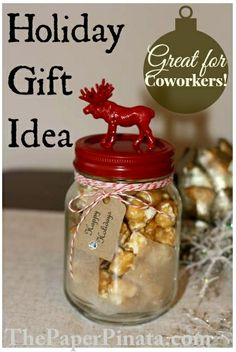 DIY jars for the Holidays.  Great gifts for coworkers and neighbors!
