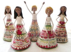 beautiful paper mache angels