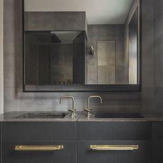 Facts, Fiction and Stylish Masculine Bathroom Design Ideas - myhomeorganic Grey Bathrooms, White Bathroom, Bathroom Wall, Bathroom Storage, Bathroom Interior, Modern Bathroom, Small Bathroom, Bathroom Ideas, Industrial Bathroom