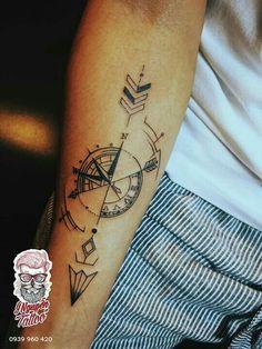 by desiree Arrow tattoo. by desiree Tattoos Masculinas, Arrow Tattoos, Trendy Tattoos, Body Art Tattoos, Tattoos For Guys, Sleeve Tattoos, Tattoos For Women, Tattos, Arrow Compass Tattoo