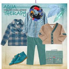 """""""Color Challenge - Aqua Therapy"""" by boysbecool on Polyvore.  Shades of teal of everywhere for boys this season, too"""