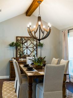 1968 Fixer Upper In An Older Neighborhood Gets A Fresh Update Wooden ChandelierWine Barrel ChandelierChandelier IdeasDining Room