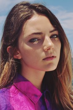 purple, eye glitter, undereye glitter