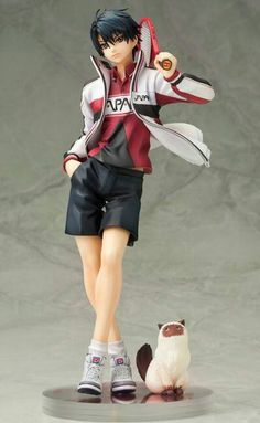 Prince of tennis figurine - love that his cats part of it too!