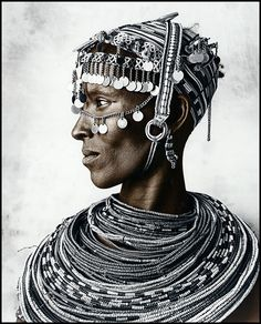 Portrait of a Rendille woman by Jan C. Schlegel.