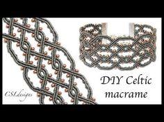 (2) Twisted celtic micro macrame bracelet - YouTube