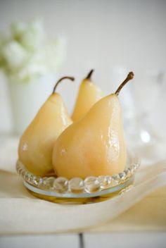 pears Red Fork, French Cottage, French Country, Pear Recipes, Pear Trees, Christmas Goodies, Allrecipes, Food Styling, Panna Cotta