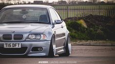 BMW E46 M3 grey slammed