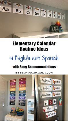 Calendar Songs, Calendar Time, Spanish Songs, Spanish Lessons, Elementary Spanish, Teaching Spanish, Alphabet Display, Weather Song, Alphabet Songs