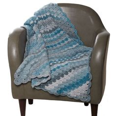 Loops & Threads® Barcelona Big Diagonal Block Crochet Throw