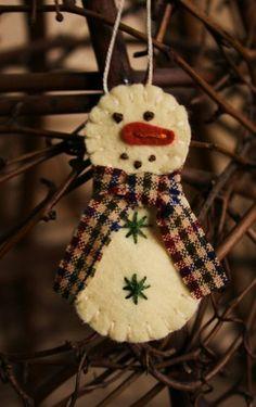 DIY, csináld magad, karácsony, karácsonyfadísz, karácsonyfa, filc, textil, gomb, gyöngy, hóember,