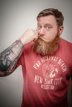 full thick red beard with great coloration and a huge, awesome mustache beards bearded man men mens' style tattoos tattooed ginger redhead handsome #beardsforever