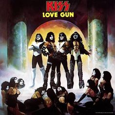 Love Gun is an album by the American hard rock band Kiss. It was certified Platinum on June 1977 when it sold copies. Love Gun was the second Kiss album to ship platinum, and would eventually achieve triple platinum status. Kiss Album Covers, Greatest Album Covers, Rock Album Covers, Classic Album Covers, Audiophile, Lps, Hard Rock, Cover Art, Lp Cover