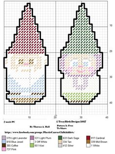 GNOMES Plastic Canvas Books, Plastic Canvas Ornaments, Plastic Canvas Christmas, Plastic Canvas Crafts, Plastic Canvas Patterns, Beaded Cross Stitch, Cross Stitch Embroidery, Cross Stitch Patterns, Gnome Ornaments
