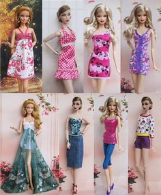 Lot 8 PCS New Casual Clothes Wear Stylish Outfits For Barbie Doll My Closet