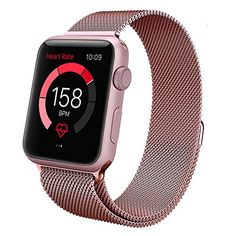 Surwin Apple Watch Armband 42 mm aus Milanese Sportuhren Uhrenarmband mit Einzigartige Magnet-Verschluss für alle Versionen Apple Watch iWatch Band - Rose 42 - http://on-line-kaufen.de/surwin/surwin-apple-watch-armband-38-mm-42-mm-aus-milanese-10