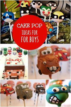 Cake Pop Ideas for Boys www.spaceshipsandlaserbeams.com