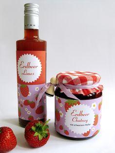 Erdbeer-Chutney, Erdbeerlimes
