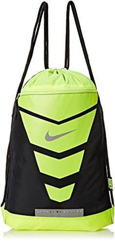 Men's Nike Vapor Gym Sack Black/Volt/Metallic Silver Size One Size - CHECK OUT MORE DETAILS  @: http://www.best-outdoorgear.com/mens-nike-vapor-gym-sack-blackvoltmetallic-silver-size-one-size/