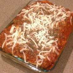 Love lasagna? Well here's my version and it's sure delicious! What your sexy self will need: 1: Your choice of lean meat (I used bison meat). You can use ground turkey/chicken/ or make it vegan but protein packed with portobello mushrooms. 2: organic low sodium spaghetti sauce, skim or fat free ricotta cheese, eggplant, light shredded mozzarella Cheese, baby spinach, dry oregano, dry basil , garlic, ketchup . 3: I used a small Pyrex , one big purple potato, 1 cup shredded mozzarella, 12...