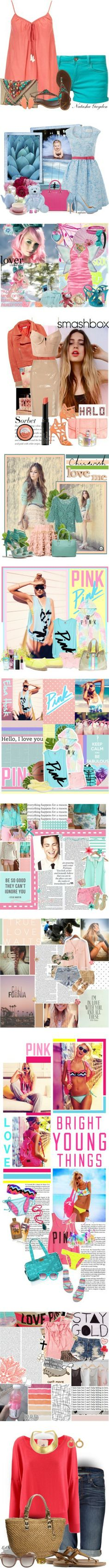 """""""Pink & Blue"""" by kittenlove34 ❤ liked on Polyvore"""