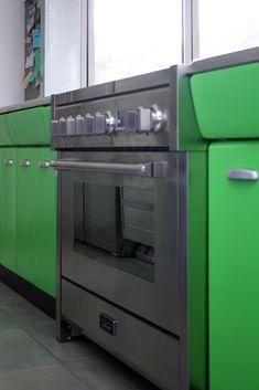 groen kookeiland american kitchen