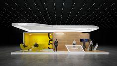 """Exhibition stand """" NEUSTAR"""" 72sq.m., 3sides open.UK LondonDesignby """"GM stand design""""Designer: Nazar Malets"""