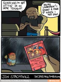 Pokemon - Charizard fake I. Pokemon Comics, Pokemon Memes, Pokemon Funny, Meme Comics, Pokemon Fake, Pokemon Go, Pokemon Stuff, Pokemon Cards, Funny Puns