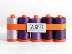 Aurifil 50wt Cotton Thread Purple Passion Collection - https://diygods.com/products/aurifil-50wt-cotton-thread-purple-passion-collection/