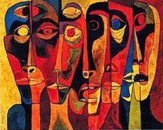 by Oswaldo Guayasamin (1919~1999; Quito, Ecuador)
