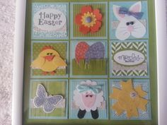 Easter Collage Shadow Box Frame- Stampin Up by Kahlandt's Kreations!