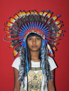 Indian Warbonnet headdress, Aztec Indian Art - Manufacturer, Supplier, and Exporter of Indian American or Native Indian Handicrafts in Bali